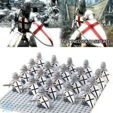 21PCS Medieval The Crusaders Ranger Knight Warrior Building Blocks DIY Toy New