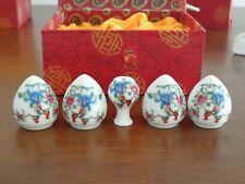 1set 5pcs Asian Bamboo Bird Cage Set Flower and bird ceramics Cup 陶瓷鸟食�
