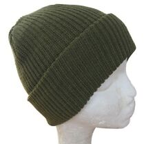 f25dbe029c Green Winter Watch Cap - Woolly Knitted Thick Hat Beanie Outdoor Military  Army