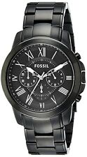 Fossil FS4832 Grant Black Dial & Stainless Steel Chronograph 44mm Men's Watch