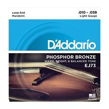 D'Addario EJ73 Loop End Mandolin Phospor Bronze Guitar Strings Ships FREE U.S.