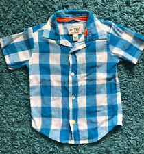 Childrens Place Baby Boy Check Oxford Shirt Button Down Size 12-18 months - Blue
