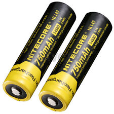 Nitecore 14500 750mAh Li-Ion Rechargeable Batteries High-Performance Protected