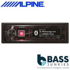 Alpine iDE-178BT 50W x 4  Single Din Mechless Bluetooth USB AUX In Car Stereo