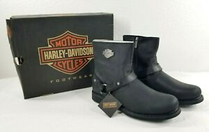HARLEY DAVIDSON Men's Boot Scout Black Leather Size 12 Motorcycle Harness
