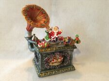 Gramaphone Music Box Jingle Bell Rock with Mr.and Mrs.Santa Claus