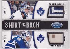 2011-12 Certified Shirt Off My Back Prime #4 Curtis Joseph/James Reimer 17/25