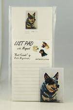 Australian Cattle Dog ~ Magnetic List Pad & Matching Refrigerator Magnet