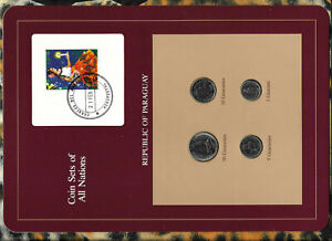 Coin Sets of All Nations Paraguay wc UNC 1,5,10 Guaranies 1984 50 Guaranies 1980