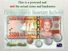 Postcard: Cayman Islands Circulating Coins and Currency (Banknote) 2013