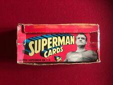 1965, SUPERMAN, Trading Cards Display Box (Scarce)