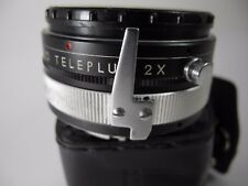 MINOLTA MD 2X TELE CONVERTER BY MT TELEPLUS IN NICE USABLE CONDITION WITH CASE