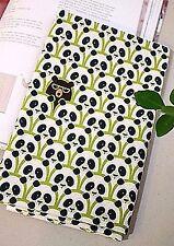 Spy Panda Green 100% Cotton Fabric BY HALF YARD Animal Pandas Quilting ff005+