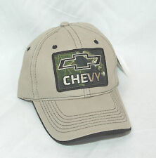GM  Chevrolet Tan with Mossy Oak Chevy Logo  Baseball Cap Hat Licensed  NEW