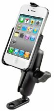 RAM Motorcycle 11mm Hole / Mirror Frame Mount with Custom Cradle for iPhone 6