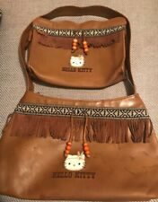 HELLO KITTY TWO PIECE HANDBAG & MAKE-UP BAG SET RARE NATIVE AMERICAN DESIGN