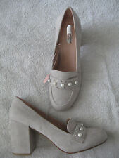 NEW!!  Women's GREY shoes-block PRIMARK  7/ 40-41