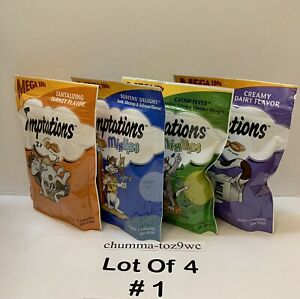 Temptations Mega Pouch (Lot Of 4) All Cats Love:) (Buyers Choice!) (NWT!)