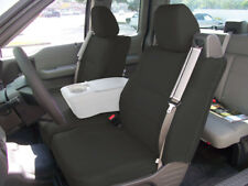 FORD F-150 04-08 S.LEATHER FRONT CUSTOM FIT SEAT COVER BUILT IN SEATBELT BLACK