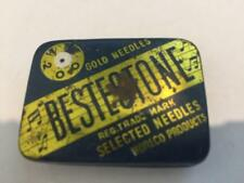 VINTAGE BESTOFONE 78RPM GRAM0PHONE RECORD GOLD NEEDLES TIN  SOME WITH CONTENTS12