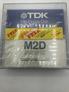NEW/SEALED 10-PACK- TDK M2HD MINI-FLOPPY DISK- - EB - TWO-SIDED HIGH DENSITY