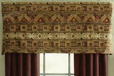 Croscill Southwestern Grand Mesa Tailored Window Valance - Red