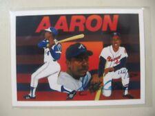 1991 Upper Deck Heroes Hank Aaron AUTO Autograph (hand #ed 1751/2500)