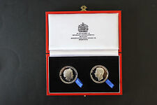 GEORGE CROSS / GEORGE MEDAL 75TH., ANNIVERSARY COMMEMORATIVE SILVER MEDALLIONS
