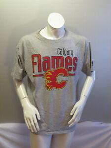 Calgary Flames Shirt (VTG) - Gym Shirt Style by Starter - Men's Large