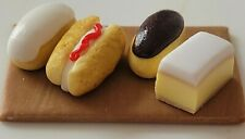 dolls house food, small cake selection,12th scale miniature, cake shop, bakery