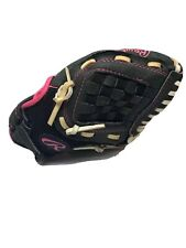 Rawlings Youth Storm 10 in Softball Glove Black/Bright Pink Right handed thrower