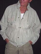 Eddie Bauer Full Zip Khaki CottonTravel Multi Pockets Jacket Men's M T3