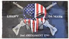 2nd Amendment Demon Skull 1791 Heavy Duty 150D Nylon Poly 3x5 3'x5' Flag Banner