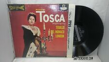 Puccini TOSCA Tebaldi OPERA London Blue Black N MINT LP FFSS OS25218 UK Press DG