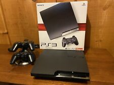 Sony PlayStation 3 - Slim 160GB Black Home Console With 2 Controllers | PS3