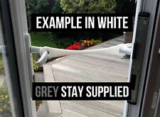 GREY XL French Door Stay, Patio Door Hold Open, Good for Dog Owners.