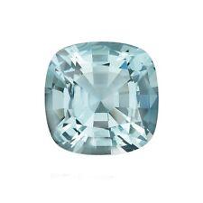2.04ct 8mm Natural Cushion Cut Aquamarine Loose Gemstones