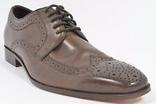 Gordon Rush HAMEL Mens Wingtip Lace-up Dress Shoes Size 9.5 M Chocolate USED