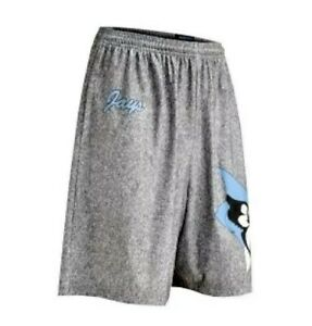 FIT TO WIN Johns Hopkins Blue Jays Lacrosse Shorts F2WGHS Heather Gray Mens Sz S