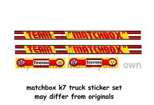 MATCHBOX K7 STICKER SET TEAM