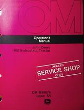John Deere 400 Lawn Garden Tractor Operating Manual 36pg Om-M48676 1975 030001M-