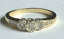 or Right Hand Size 7 Ring 3.1g 14k Yellow Gold 25 Diamonds .50 Carat Engagement
