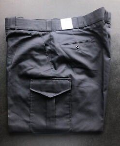 Elbeco NWT Mens 48R Blue Pant Poly Cotton Blend, Grip Waist, Cargo Pckts, E7024R