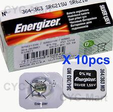 10 pedazo x Energizer 364 SR621SW Óxido de plata Pilas GRATIS WW POSTE