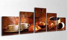 Cuadro Moderno Fotografico base madera, Desayuno Cafe 145 x 62 cm