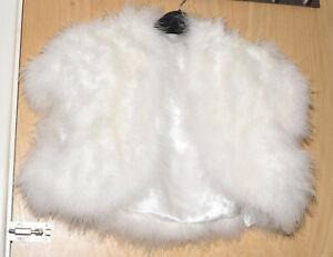 Beautiful Marks& Spencer turkey feather ivory colour shrug, 1 size