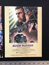 Blade Runner 1982 Original 8X11� Motion Picture Movie Promo Ad & Clippings