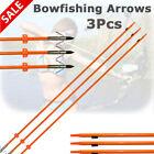3Pcs Fiberglass Bowfishing Arrow Archery Fishing Fish Hunting Arrows Outdoor