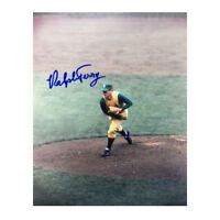 Ralph Terry signed Kansas City Athletics 8x10 Photo (pitching)