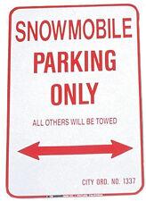 "NEW SNOWMOBILE PARKING ONLY - ALUMINUM SIGN 12"" X 18"" 1218SPK MC5175 VOSS SIGNS"